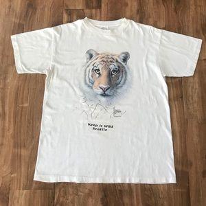 Vintage Seattle Wild Tiger Animal T-Shirt Tee